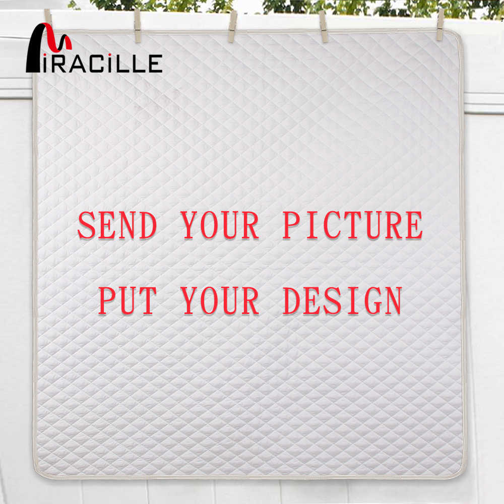Miracille 3D Printing Customized Quilt Home Bed Blankets Twin Full/Queen King Size Drop Shipping