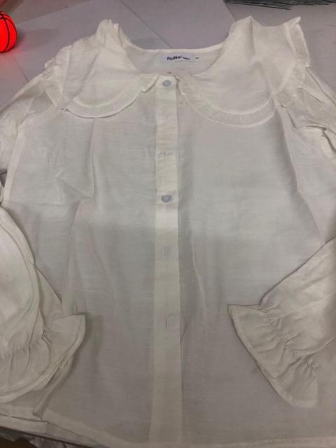 Peter Pan Collar Slim Shirt 6