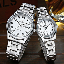2020 Fashion Couple Watch WWOOR Brand Full Steel Quartz Paired Bracelet