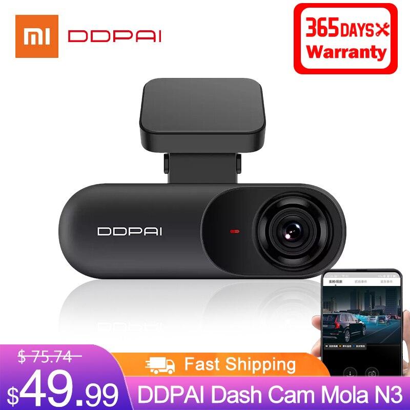 Ddpai traço cam mola n3 1600p 2k hd carro dvr câmera gps android wifi inteligente conectar gravador de câmera do carro 24h estacionamento