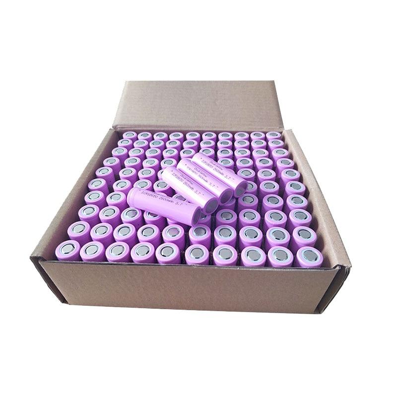 Перезаряжаемый 100 шт/коробка 3,7 v ICR18650 2600mah оптом Бесплатная доставка|Комплекты батарей|   | АлиЭкспресс