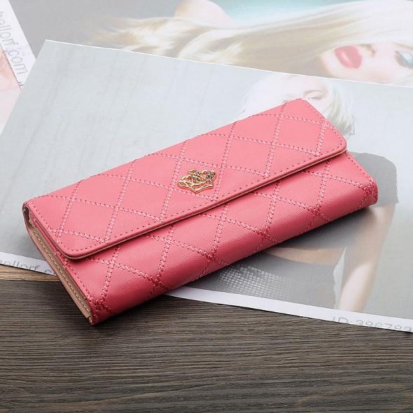 Женский кошелек, сумка для мобильного телефона, фирменный дизайн, Женский кошелек из искусственной кожи, длинные женские кошельки и кошельки, женский тонкий держатель для карт, кошелек - Цвет: 2Watermelon Red