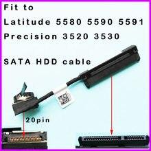Sata disco rígido hdd conector cabo para dell latitude 5580 5590 5591 precisão e5580 3520 3530 cdm80 6nvft 06nvft dc02c00eo00