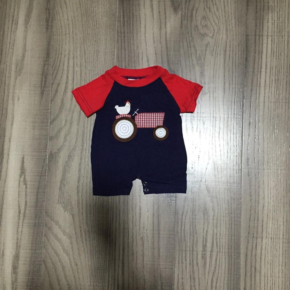 Baby Boy Clothes Baby Farm Clothes Infant Toddler Romper Boys Chook Romper Baby Cotton  Romper Wholesale