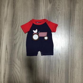 Baby boy clothes baby farm clothes infant toddler romper boys chook romper baby cotton romper wholesale фото
