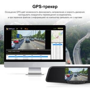 Image 5 - Junsun L11 רכב DVR מראה מצלמה רשם 3 ב 1 וידאו מקליט GPS מלא HD 2304 × 1296P/1080P גלאי רדאר אחורית מראה