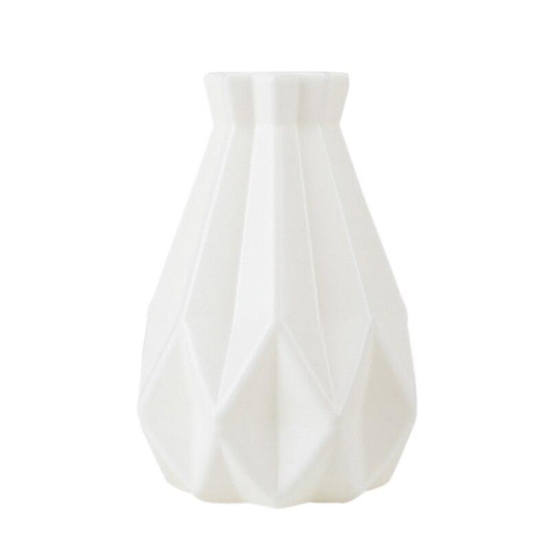 Скандинавском стиле Цветочная корзина ваза для цветов и рисунком в виде птичек-оригами Пластик ваза мини бутылка имитация Керамика украшение цветочный горшок для дома - Цвет: RL1204D