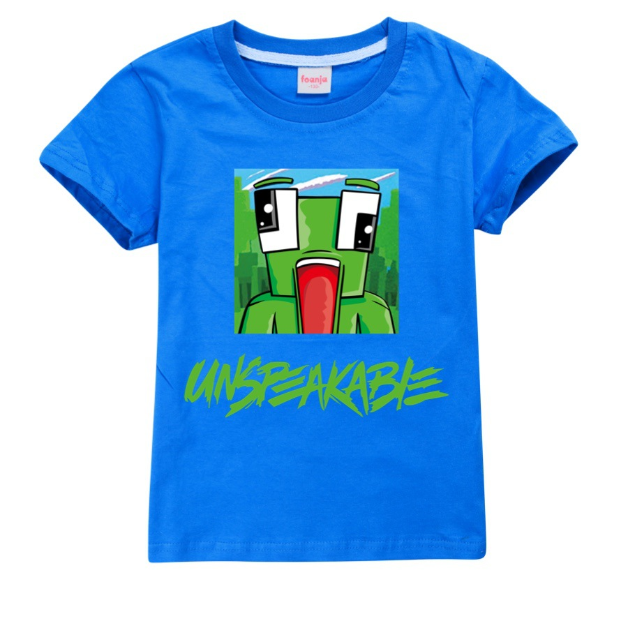 Unspeakable t shirt Morgz Youtuber baby boys youtube lovers vlog letter girls Cotton Clothing boys Clothes Kids christmas shirt 4
