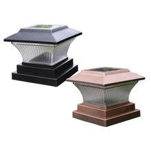 ソーラーled柱ライト屋外ポストランプabs正白色/ウォームライトニッケル水素1.2v防水フェンスライトガーデン庭