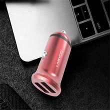 Dual USB Car Charger Adapter 2 Port Mini Car-Charger For Mobile Phone USB Carcharger Cigarette Lighter Universal For Iphone mini dual usb car cigarette lighter charger white