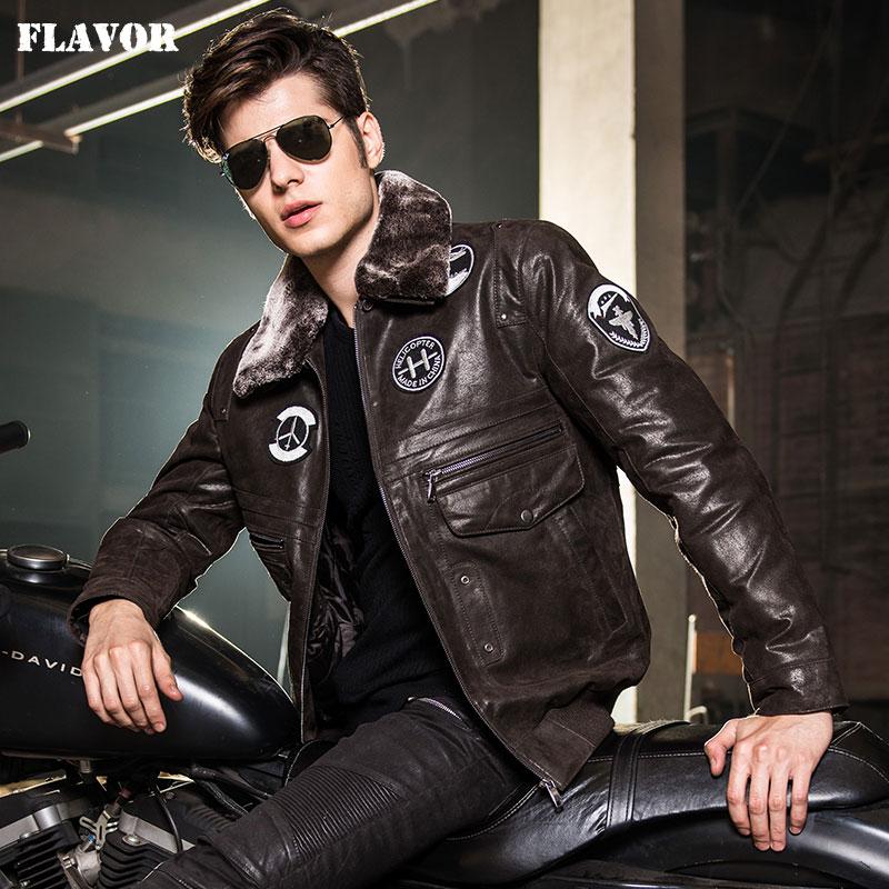2016 Men s real leather jacket pigskin Genuine Leather jacket men leather coat air force flight Innrech Market.com