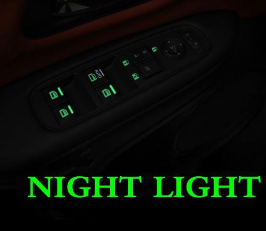 Car Universal Window Luminous Sticker Fluorescent Sticker Glass Lifter Switch Button Glow Sticker Modified Fluorescent Sticker