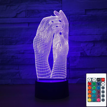 3D-1018 Love Two Hands Beautiful 3D Lamp LED Night Light USB Touch Table Lamp Decoration Party Holiday Indoor Lighting cheap Asmarluxx Lava Lamp Night Lights Plastic LED Bulbs 4 5V Dry Battery 0-5W