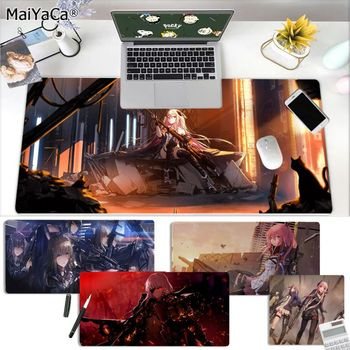 MaiYaCa Simple Design Girls Frontline Anime Large Mouse pad PC Computer mat Rubber PC Computer Gaming mousepad maiyaca hot sales anime steins gate natural rubber gaming mousepad desk mat large lockedge mousepad laptop pc computer mouse pad