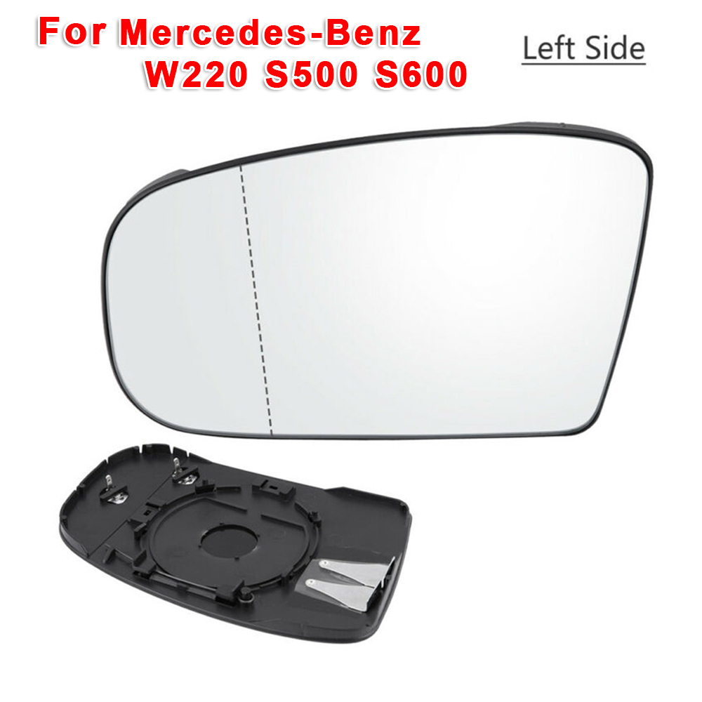 Car Rearview Mirror Exterior Left Plastic Glass For Mercedes-<font><b>Benz</b></font> <font><b>W220</b></font> <font><b>S500</b></font> S600 image