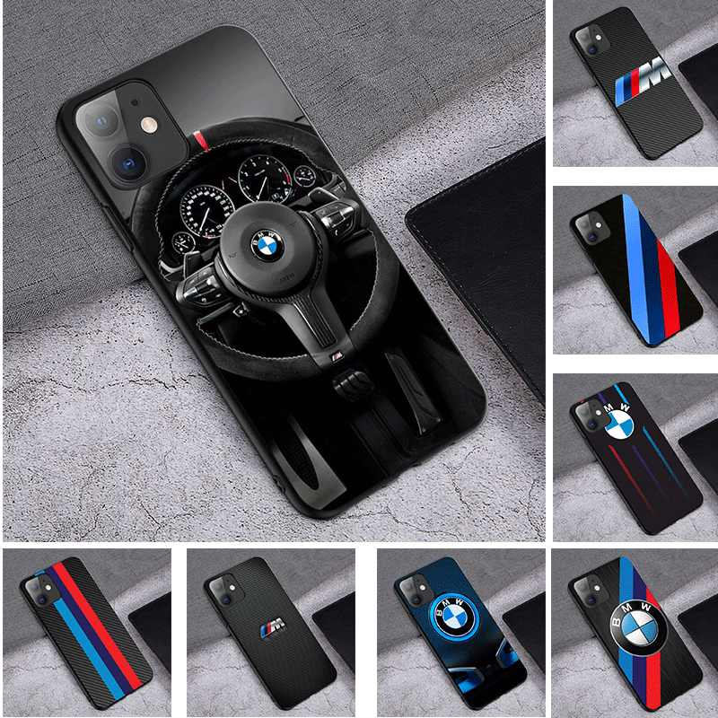 Mobile TPU Soft Silicone Phone Case for iPhone 5 5s 6 6s 7 8 iPhone 6 6s 7 8 Plus Cover BMW