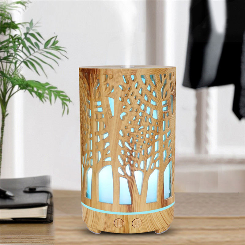 Wood Aroma Air Humidifier Essential Oil Diffuser Aromatherapy Electric Ultrasonic cool atomizer Mist Maker Mini for Home|Humidifiers|   - AliExpress