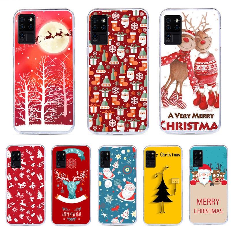 Мультяшный чехол для телефона с рождественским рисунком для Oukitel C21 мягкий чехол с Санта Клаусом для Oukitel C21 C19 Pro Специальные чехлы      АлиЭкспресс
