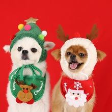 Pet Holiday Clothing Christmas Tree Hat Cat Elk Head Cover Dog Warm Clothing Small And Medium Sized Dog Accessories