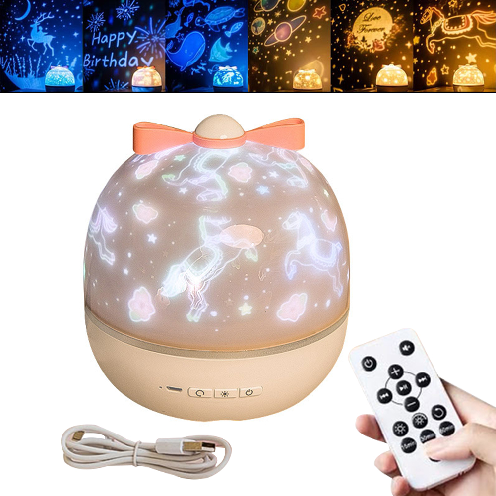 Starry Sky Night Light Planet With Music Magic Projector LED Lamp Colorful Rotate Flashing Star Kids Baby Christmas Gift
