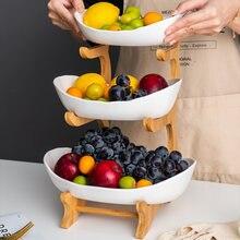 Assiette à fruits en plastique à deux couches, salon maison assiette à bonbons assiette à fruits en plastique créative moderne panier de fruits secs