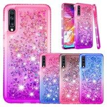 Cieczy telefon etui na Huawei P30 Lite Pro P20 Lite P inteligentny 2019 Honor 10 Lite Y7 Y6 ciesz się 9s Nova 5i brokat diament miękka okładka