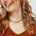 Женское Ожерелье Laramoi из металлической цепи, ожерелье в стиле панк, хип-хоп ожерелье рэпера, золотые подарки лучшему другу, бижутерия для веч...