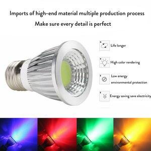 Image 2 - LED אור 6W 9W 12W COB GU5.3 GU10 E27 E14 E12 LED עמעום Sportlight מנורת מתח גבוה הנורה אדום ירוק כחול צהוב AC 110V 220V