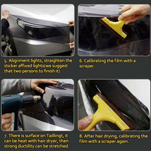 Light Protector Film Bumper Hood Paint Protection Vinyl Wrap Exterior Accessory Replacement
