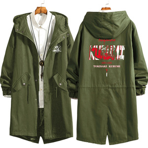Image 5 - Anime DATE A LIVE Tokisaki Kurumi Cosplay Long Windbreaker Women Men Autumn Winter Warm Hooded Coat Zip Wind jacket outercoat