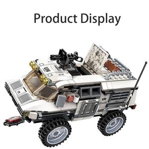 Image 4 - 298PCS Military Car Vehicle Weapon Sets Building Blocks WW2 Army Panzer Chinoook Brick DIY Toy Children Boy Gift