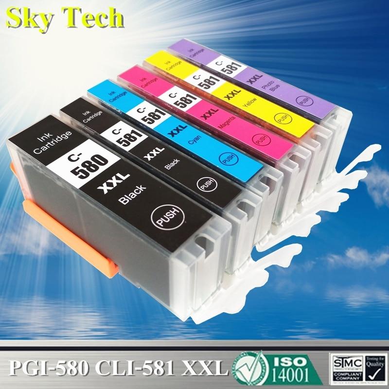 Compatible Ink Cartridges For PGI580 CLI581 , For Canon Pixma TS705/TR7550/TR8550/TS6150/TS6250/TS8150/TS8250/TS9150/TS9550 Etc