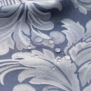 Image 5 - Usexta feira cortina de banho elegante, branco, gaze, poliéster, à prova dágua, grossa, jacquard, cinza, prata