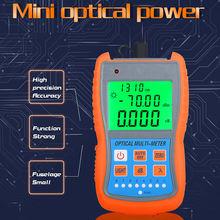 FTTH Mini Optical Power Meter AUA-G70A/50A OPM Fiber Optical Cable Tester -70dBm~+10dBm SC/FC/ST Universal interface Connector