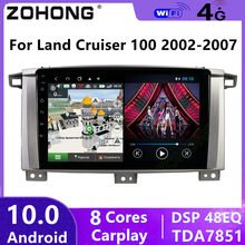 4G 8 Cores DSP Android 10 For Toyota Land Cruiser 100 GX LC100 Car Multimedia video Player BT GPS navigation autoradio DVD Radio