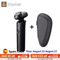 XIAOMI-Afeitadora eléctrica Showsee para hombres, máquina de afeitar lavable, recargable, en seco y húmedo, para Barba