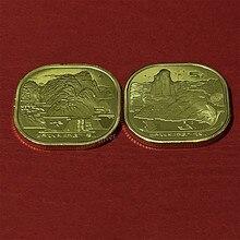 China conjunto 2 pces, 2019-2020, tai shan & wu yi montanha, 5 yuan, património cultural e natural do mundo moeda original comemorativa