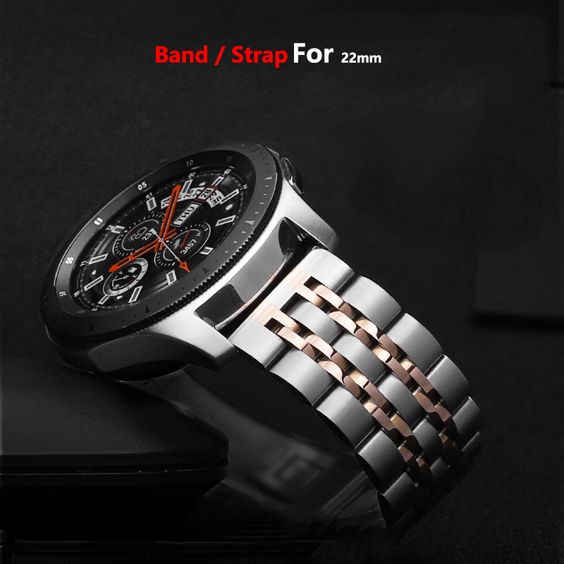 Stainless Steel Band For Huawei Watch GT 2 Samsung Galaxy Watch 46mm Strap Gear S3 Frontier Band 22mm Metal Belt Bracelet 46 Mm