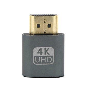 VGA HDMI Dummy Plug Virtual Display Emulator Adapter DDC Edid Support 1920x1080P For Video Card BTC Mining Miner