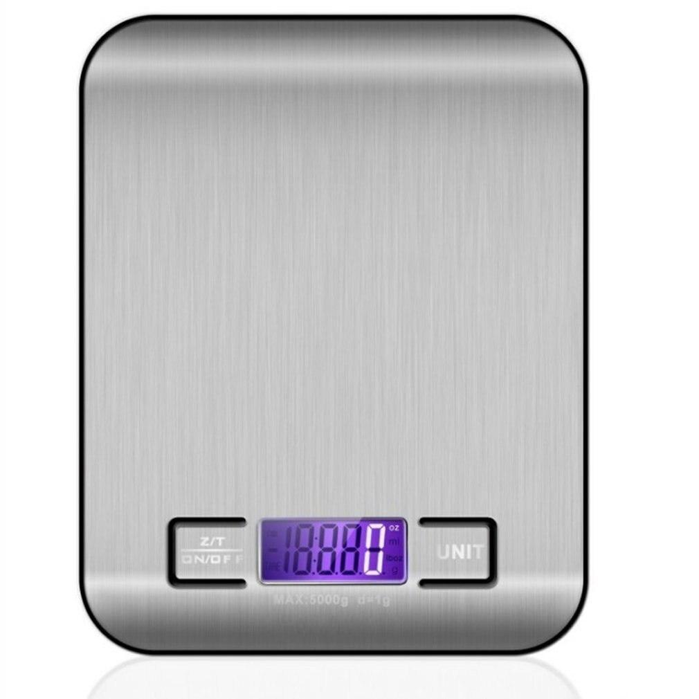 الفولاذ المقاوم للصدأ المطبخ مقياس الالكترونية وزنها 5 كجم 10 كجم المطبخ المنزلية مقياس الغذاء غرام صغير مقياس مجوهرات قال