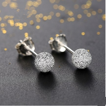 925 sterling silver Grind arenaceous stud earrings for women earings fashion jewelry