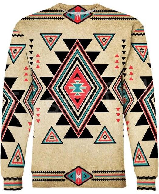 Tessffel Indian Native culture Harajuku Casual Colorful Tracksuit New Fashion Funny 3DPrint Unisex Sweatshirts Mens Womens s-4 2