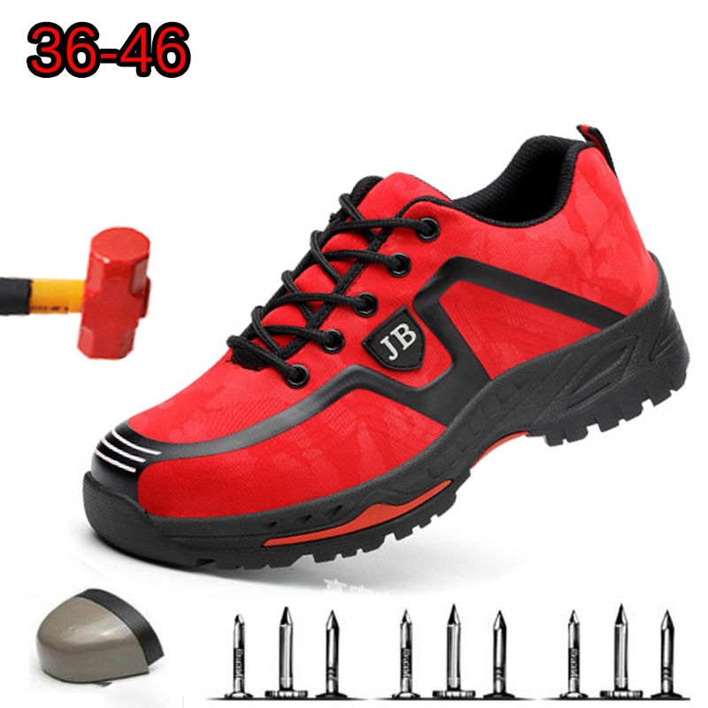 Dropshipping Men light breathable deodorant safety work shoes Steel toe cap protective Indestructible