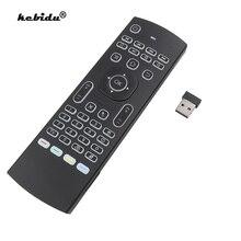 Akıllı ses uzaktan kumanda arkadan aydınlatmalı MX3 hava fare 2.4G RF kablosuz klavye IR öğrenme Android 9.0 TV kutusu x96 H96 MAX A95X
