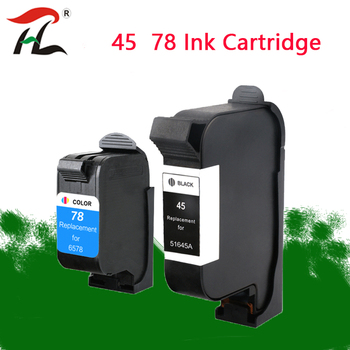 Compatible con cartucho HP45 cartucho HP78 51645 HP1180 1180c 1280 6122 6127 cartucho de impresora de ropa CAD Plotter
