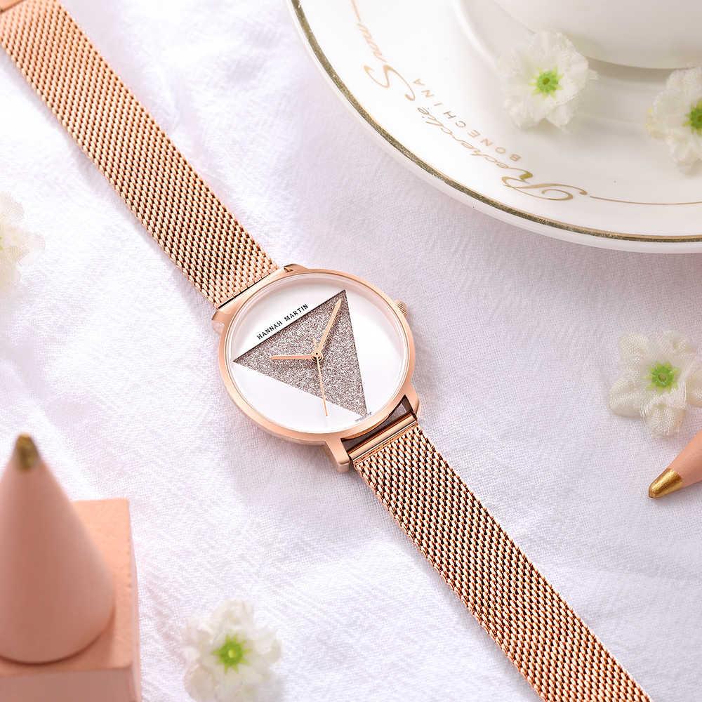 באיכות גבוהה 1 סט צמיד & יפן קוורץ עמיד למים גברת צעירה שעון נירוסטה רשת להקת נשים שעונים Relogio Feminino