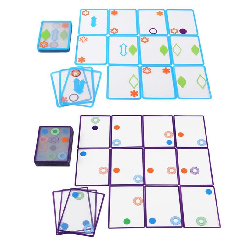 Spatial Logical Training Toy Overlapping Swish Card Excellent ABS Plastics Prolonged Durable Game For Children Kids Gift