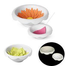 2Pcs/Set Plastic Sugar Paste Flower Drying Mold Fondant Cake Decor Baking Tool