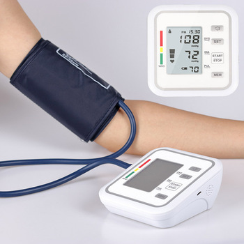 Home health care Arm BP cuff Blood Pressure meter Monitor Machine Tonometer Medical Equipment LCD automatic phygmomanometer 1