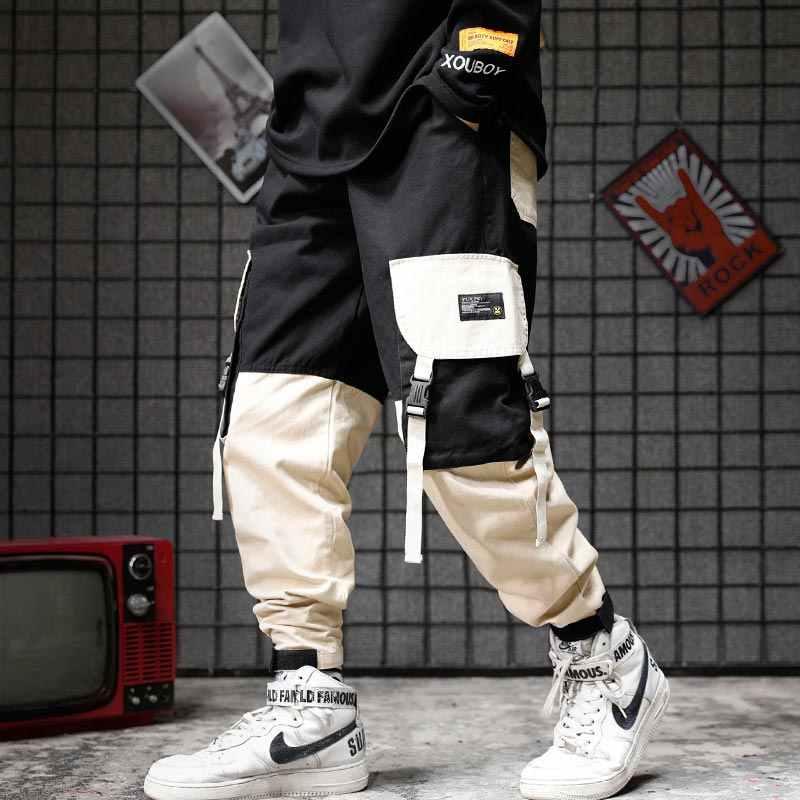Pantalones Cargo Hi Street Para Hombre Pantalon De Moda Estilo Urbano Slim Fit Hip Hop Con Bolsillos Pantalones De Correr Con Punos Para Hombre Pantalones Informales Aliexpress